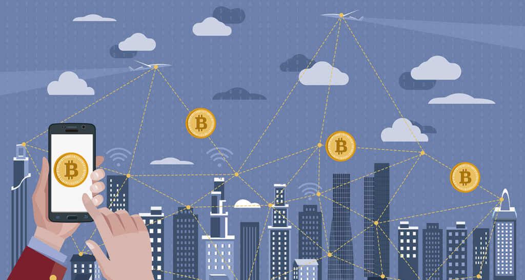 Bitcoin Payment and Blockchain Concept